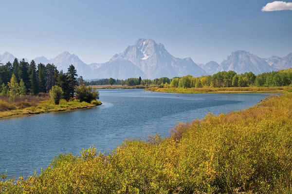 Mt Moran And Snake River Seen From Art Print by Glenn Van Der Knijff