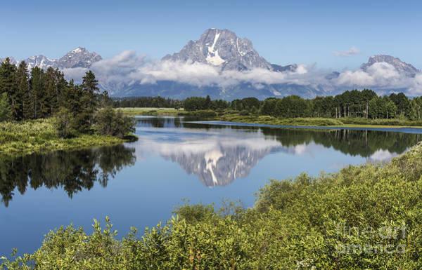 Mount Moran Photograph - Mt. Moran Reflection - Grand Teton National Park by Sandra Bronstein