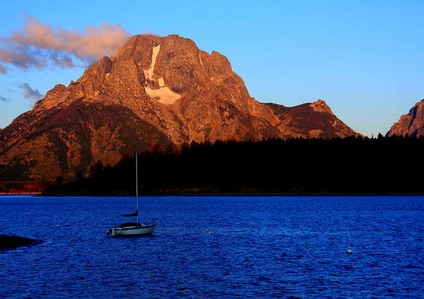 Photograph - Mt Moran Sunset by Aidan Moran