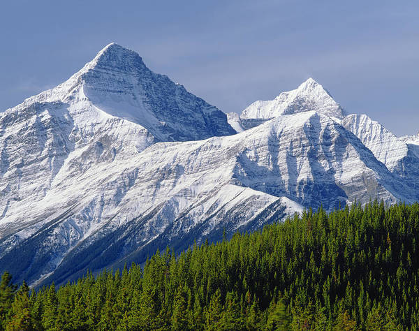 Photograph - 1m3627-mt. Outram And Mt. Forbes by Ed  Cooper Photography