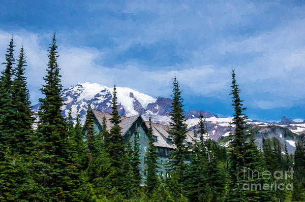 Photograph - Mt Rainier And Paradise Inn by Sharon Seaward