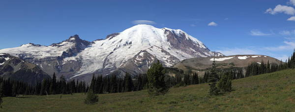 Vogel Photograph - Mt Rainier From Sunrise Park by Angie Vogel