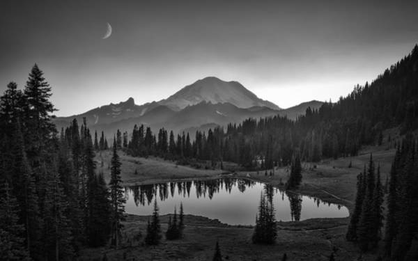 Rainy Photograph - Mt. Rainier by Michael Zheng