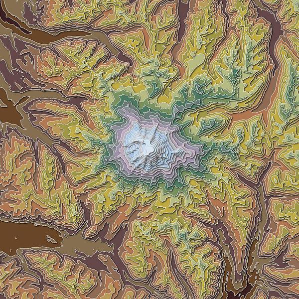 Mounted Digital Art - Mt. Rainier by Paul Hein