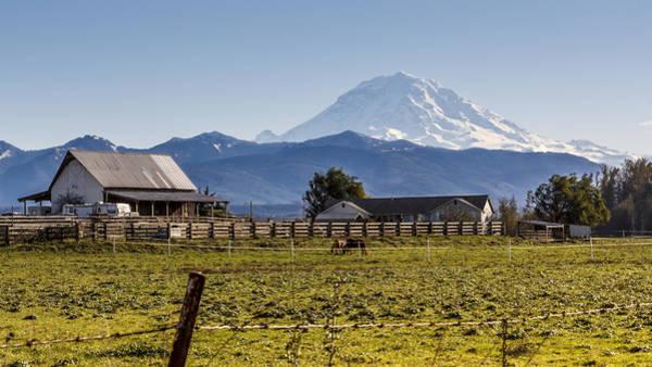 Wall Art - Photograph - Mt Rainier Ranch by Tony Locke