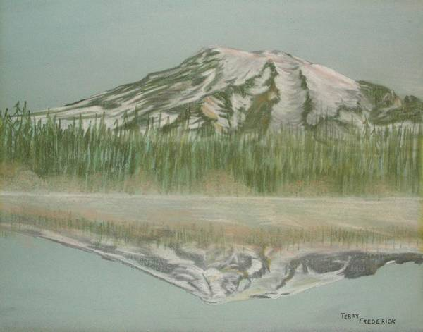 Pastel - Mt Rainier by Terry Frederick