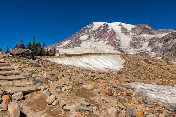Photograph - Mt Rainier Visit by John M Bailey