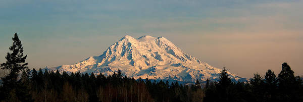 Photograph - Mt Rainier Winter Panorama by Mary Jo Allen