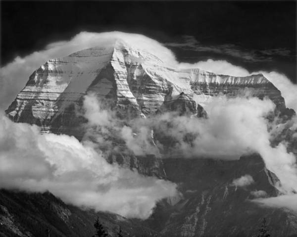 Photograph - 102496-mt. Robson Wreathed In Clouds by Ed  Cooper Photography