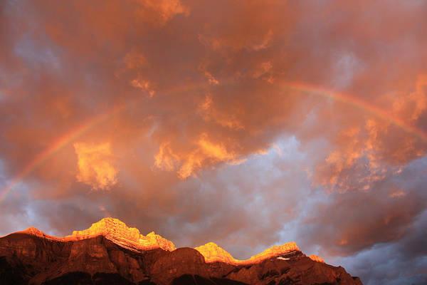Photograph - Mt. Rundle Sunrise by Gerry Bates