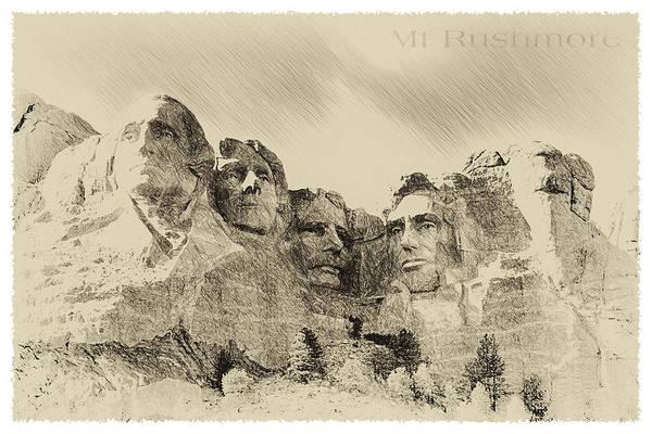 Gop Photograph - Mt Rushmore 1941 by John Haldane