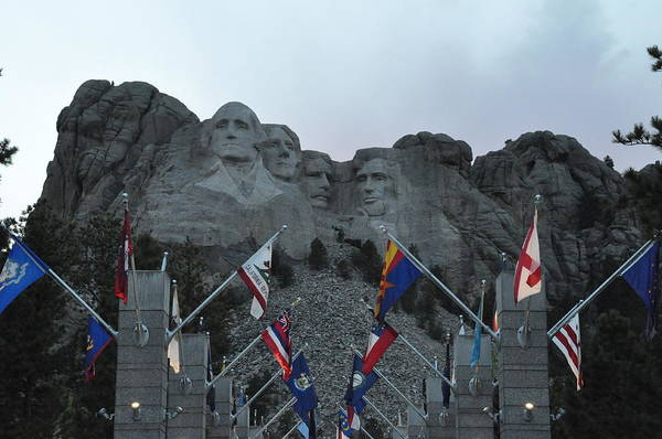 Photograph - Mt. Rushmore In The Evening by Frank Madia
