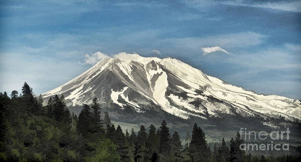 Digital Art - Mt. Shasta by Kathleen Gauthier