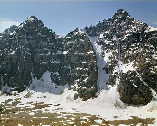 Photograph - 1m3422-mt Tuzo And Deltaform Mountain by Ed  Cooper Photography