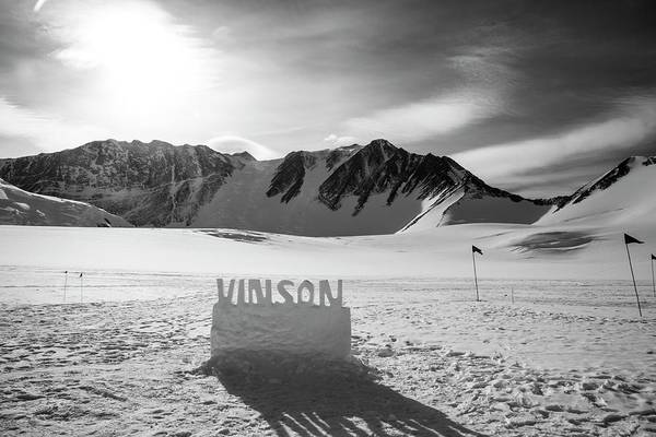 Crevasses Photograph - Mt Vinson Base Camp by Peter J. Raymond