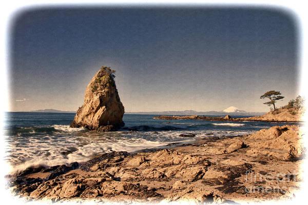 Photograph - Mt.fuji Seen In The Sea Over by Tad Kanazaki
