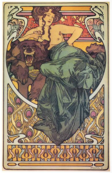 Painting - Mucha Bearskin, 1902 by Granger