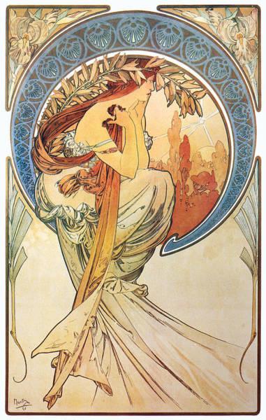 Alphonse Mucha Painting - Poetry, 1898 by Alphonse Mucha