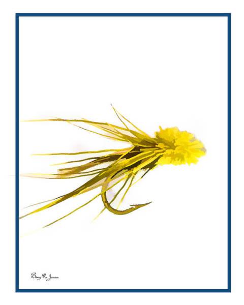 Sportsman Digital Art - Fly Fishing - Muddler Minnow by Barry Jones