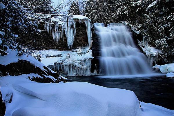 Swallow Falls State Park Wall Art - Photograph - Muddy Creek Falls In Winter by Matthew Winn