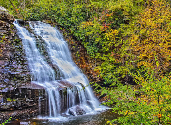 Swallow Falls State Park Wall Art - Photograph - Muddy Creek Waterfall In Autumn by SCB Captures