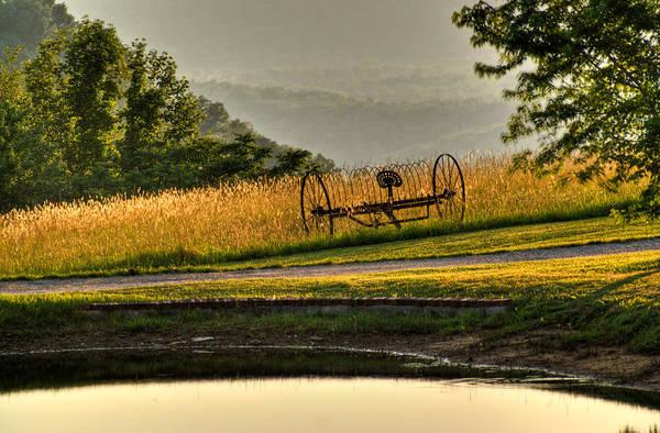 Hay Rake Photograph - Muddy Pond Field by Douglas Barnett