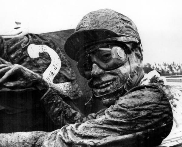 Wall Art - Photograph - Mudfest Horse Racing by Retro Images Archive
