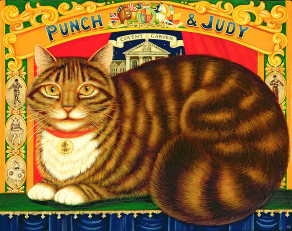 Wall Art - Painting - Muffin, The Covent Garden Cat by Frances Broomfield