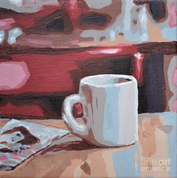 Painting - Mug And Newspaper by Laura Toth