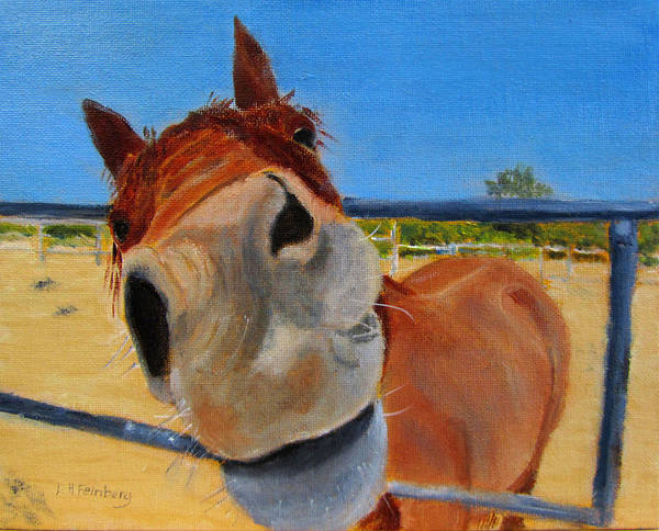 Painting - Mug Shot by Linda Feinberg