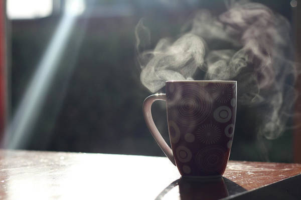 Drink Photograph - Mug With Sunlight And Steam by Kylie Townsend