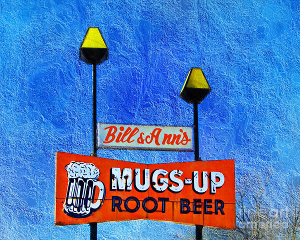 Photograph - Mugs Up Root Beer Drive In Sign by Andee Design