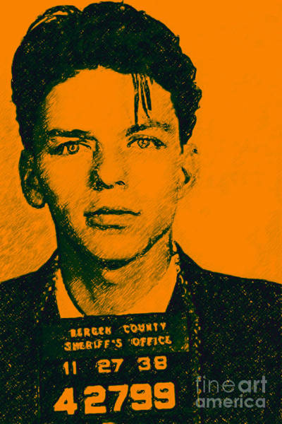 Musical Artists Photograph - Mugshot Frank Sinatra V1 by Wingsdomain Art and Photography