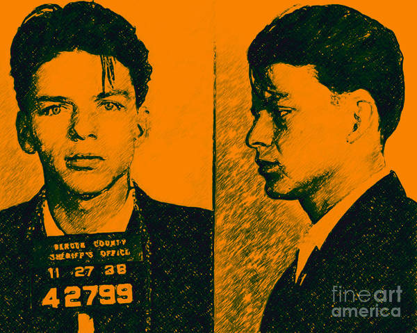 Photograph - Mugshot Frank Sinatra V2p0 by Wingsdomain Art and Photography