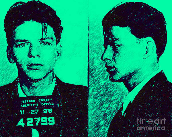Photograph - Mugshot Frank Sinatra V2p128 by Wingsdomain Art and Photography