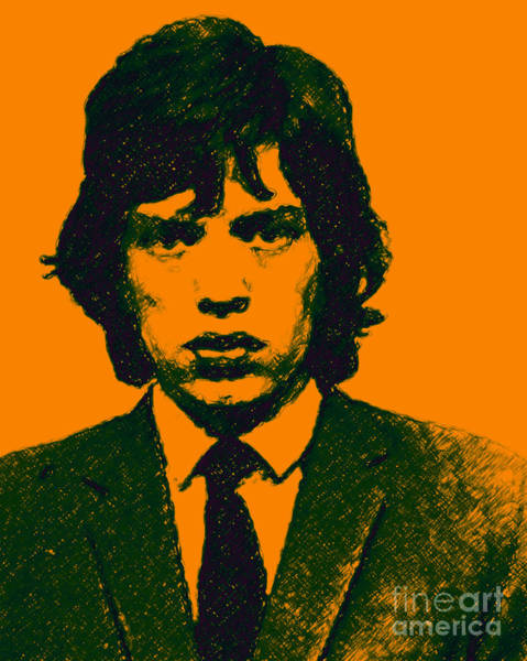 Photograph - Mugshot Mick Jagger P0 by Wingsdomain Art and Photography
