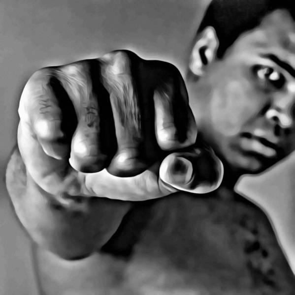Painting - Muhammad Ali Fist by Florian Rodarte