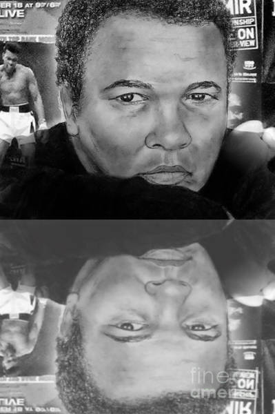 Wall Art - Digital Art - Muhammad Ali Formerly Known As Cassius Clay Version II With Reflection by Jim Fitzpatrick