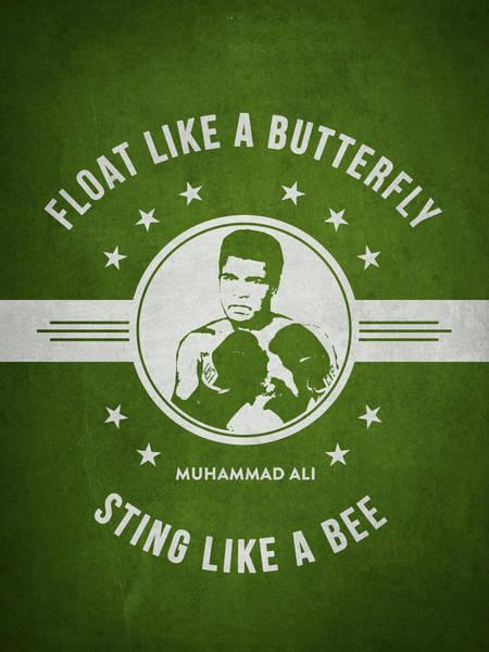 Clay Digital Art - Muhammad Ali - Green by Aged Pixel