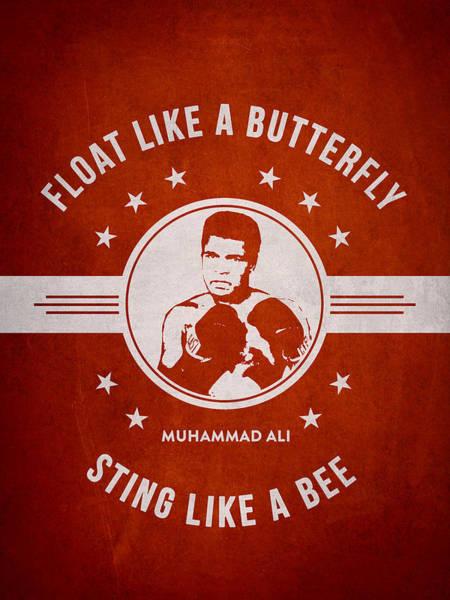 Clay Digital Art - Muhammad Ali - Red by Aged Pixel