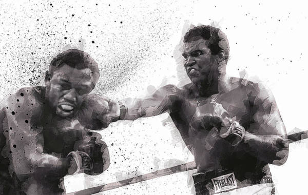 Olympics Digital Art - Muhammad Ali Vs Joe Frazier by Daniel Hagerman
