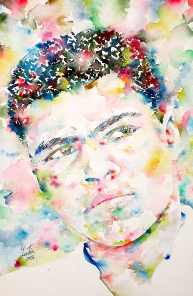 Boxing Painting - Muhammad Ali - Watercolor Portrait.1 by Fabrizio Cassetta