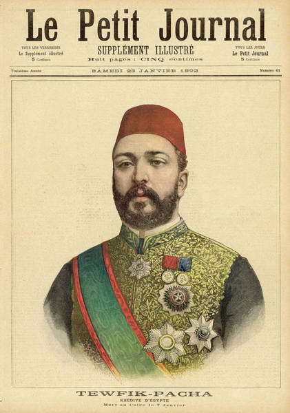 Gold Medal Drawing - Muhammed Tawfiq Pasha  Khedive Of Egypt by Mary Evans Picture Library