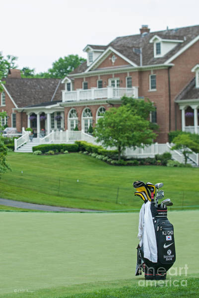 Photograph - D12w-289 Golf Bag At Muirfield Village by Ohio Stock Photography