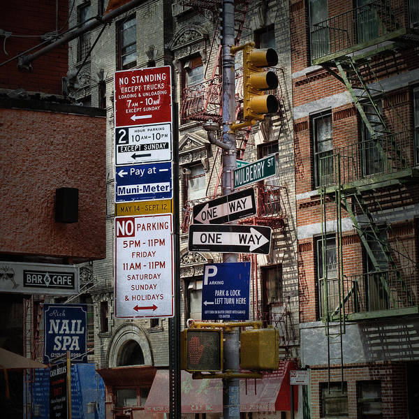 Photograph - Mulberry Street New York City by Evie Carrier