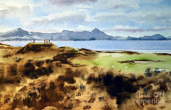 Painting - Kerry... Mulcahys Peak Watervile  by Val Byrne