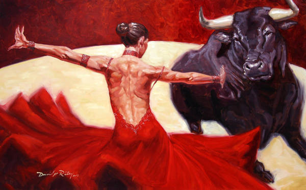 Ballroom Painting - Muleta by David Riley