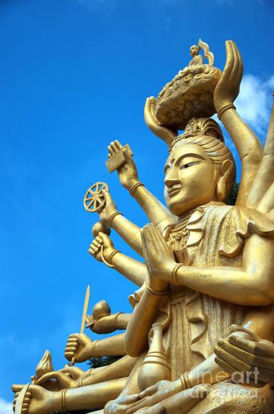 Giant Buddha Photograph - Multi Armed Buddha 01 by Antony McAulay