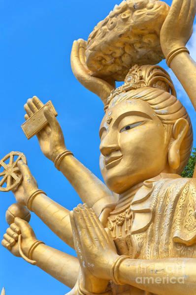 Giant Buddha Photograph - Multi Armed Buddha 02 by Antony McAulay