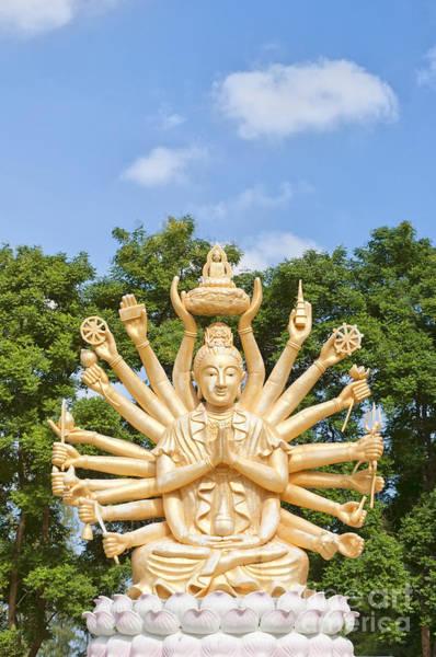 Giant Buddha Photograph - Multi Armed Buddha 04 by Antony McAulay